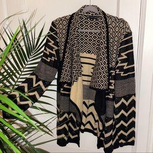 Fashion to Figure Black & Tan Cardigan